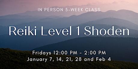 Reiki Level I Shoden Class January tickets