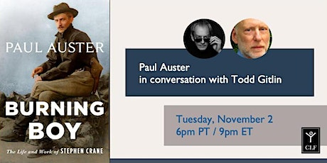 Paul Auster in conversation with Todd Gitlin tickets