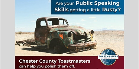 CHESTER COUNTY TOASTMASTERS MEETING bilhetes