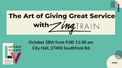 The Art of Giving Great Service with ZingTrain tickets