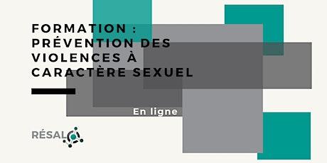 Formation : Prévention des violences à caractère sexuel billets