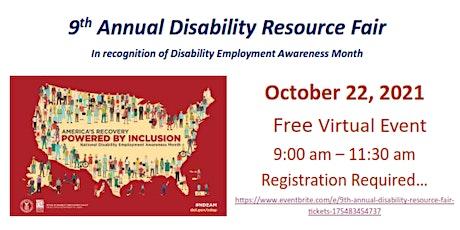 9th Annual Disability Resource Fair entradas