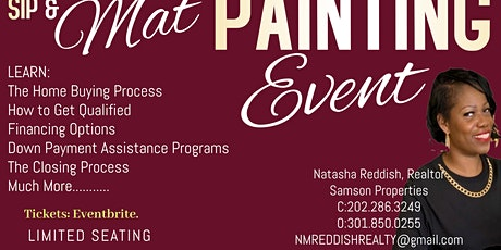 First Time Home Buyer Sip and Mat Painting Seminar tickets