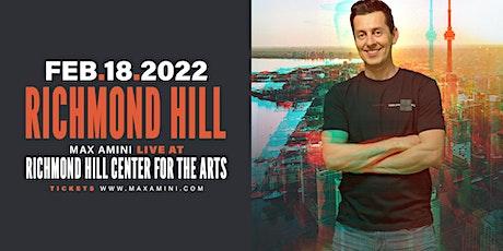 Max Amini Live in Richmondhill - 2021 World-tour **8PM SHOWTIME** tickets