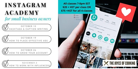 Instagram Academy for Small Business Owners tickets