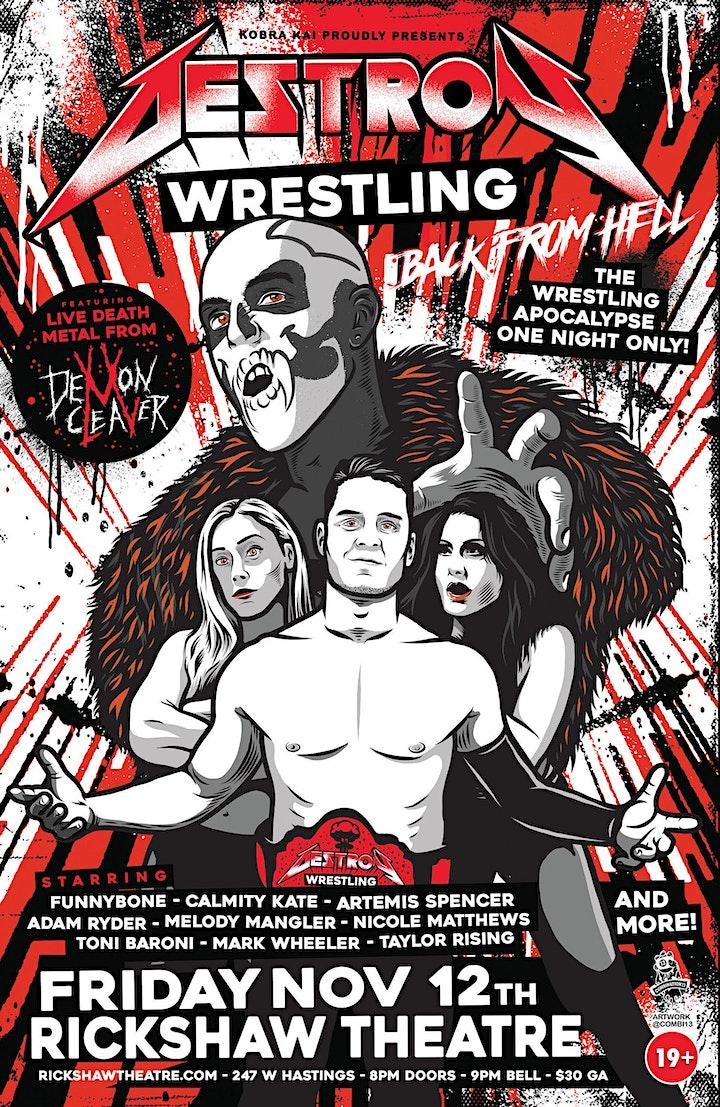 Destroy Wrestling: Back From Hell - Rickshaw Wrestling image