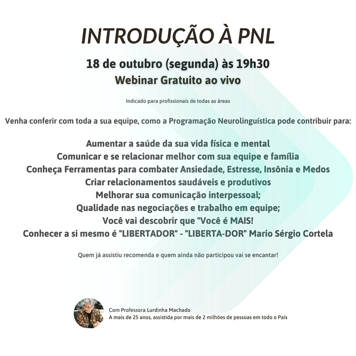 Imagem do evento Introdução a PNL - Webinar Gratuito