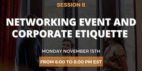 Corporate etiquette and Networking practice event tickets