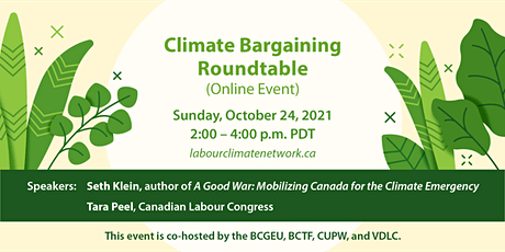 Climate Bargaining Roundtable tickets