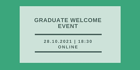 Graduate Welcome Event tickets