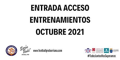 Entrenamientos Infantil Octubre 2021 entradas