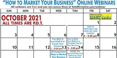Your October Free Marketing Webinars tickets