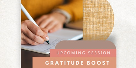 Gratitude Boost Wellbeing Journaling Session - 3PM tickets