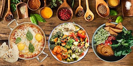 Cuisines de différentes traditions:  un délicieux repas végétarien billets