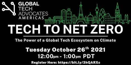 TECH TO NET ZERO  - GTA Americas Commits to Climate Change tickets