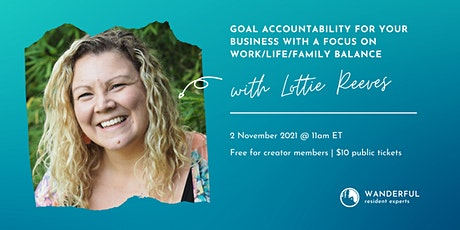 Goal Accountability for Your Business tickets