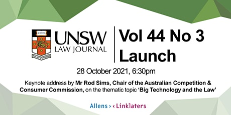 UNSW Law Journal 44(3) Launch tickets