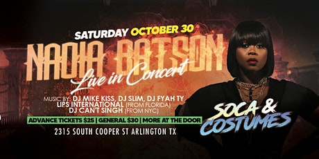 Soca x Costumes - Featuring NADIA BATSON LIVE IN CONCERT! tickets