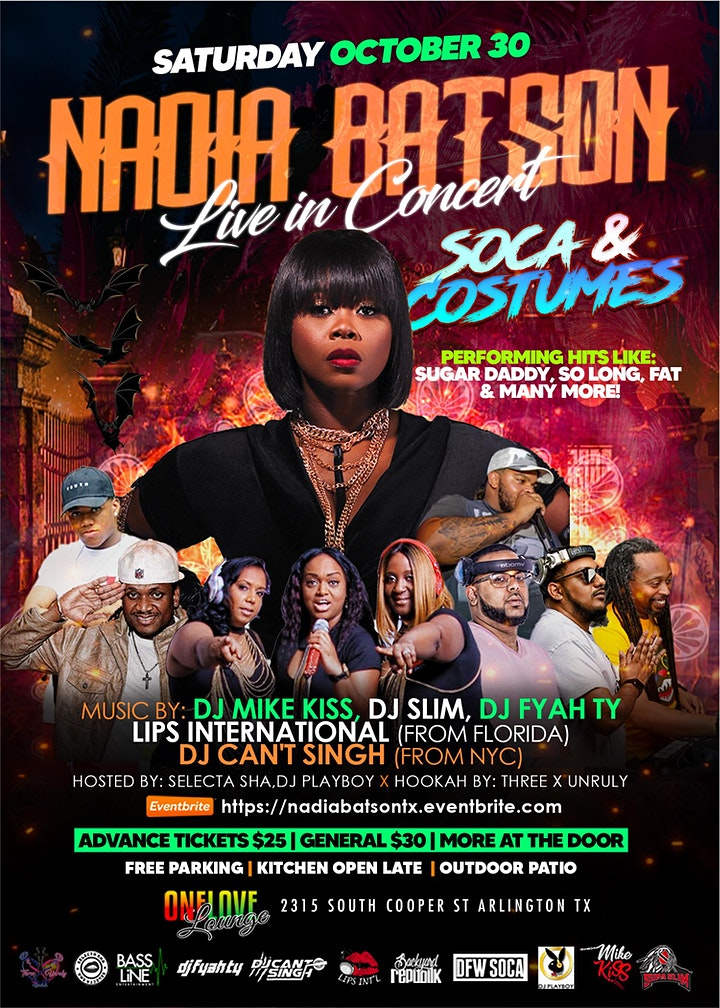 Soca x Costumes - Featuring NADIA BATSON LIVE IN CONCERT! image