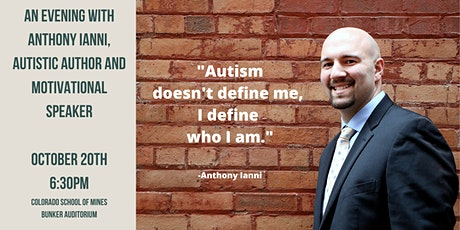 An Evening with Anthony Ianni, Autistic Author and Motivational Speaker tickets