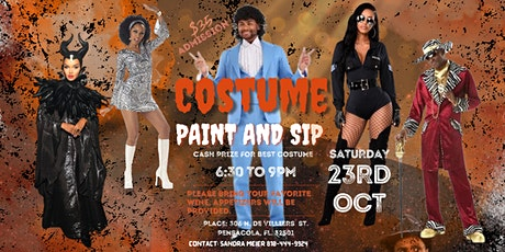 COSTUME PAINT AND SIP tickets
