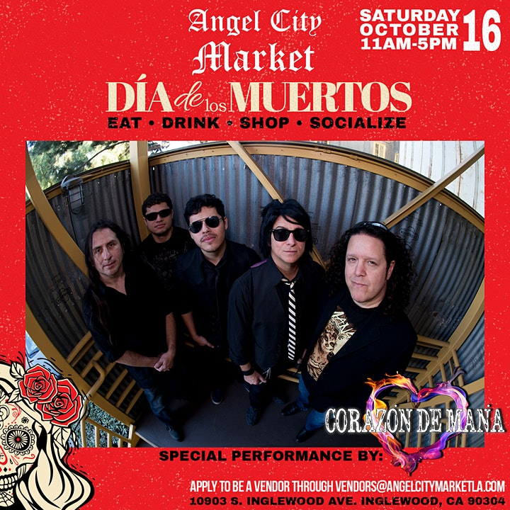 Angel City Market Dia De Los Muertos Day 1 w/ Live Mana Tribute image