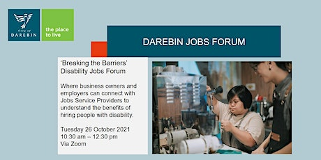 Breaking the Barriers - Disability Forum tickets
