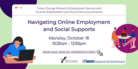 Navigating Online Employment and Social Supports tickets