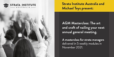 AGM Masterclass: The art and craft of nailing your next annual meeting tickets