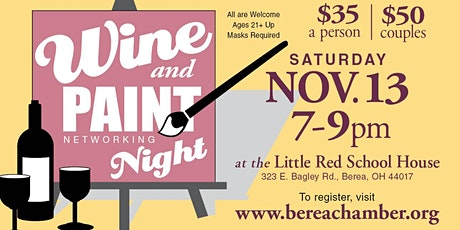Wine & Paint Networking Night tickets