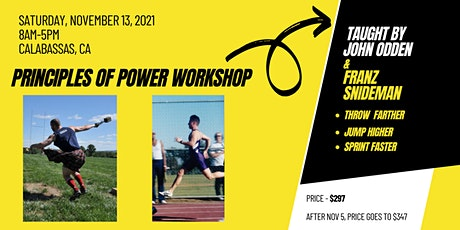 Principles of Power: Throw Farther, Jump Higher & Sprint Faster tickets