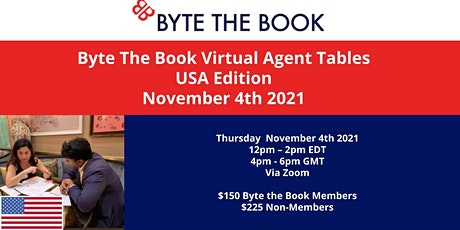 Byte the Book Virtual Agent Tables (Nov 2021) USA Edition tickets