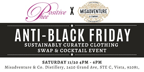 Anti-Black Friday! Sustainably Curated Clothing Swap & Cocktail Event! tickets