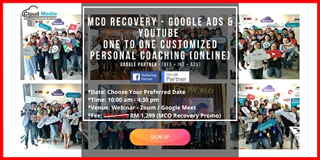 Google Partner - Google Ads & YouTube (Online One to One Personal Coaching) tickets