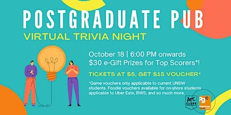 Postgraduate Pub presents Monday Trivia Night [ON-SHORE LINK] tickets