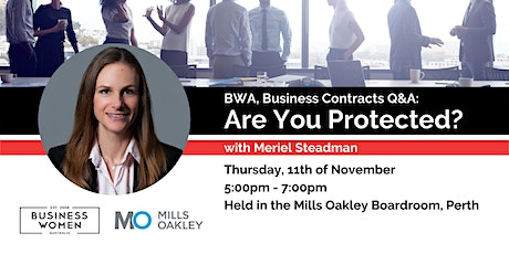 Perth, BWA, Business Contracts: Are You Protected? tickets