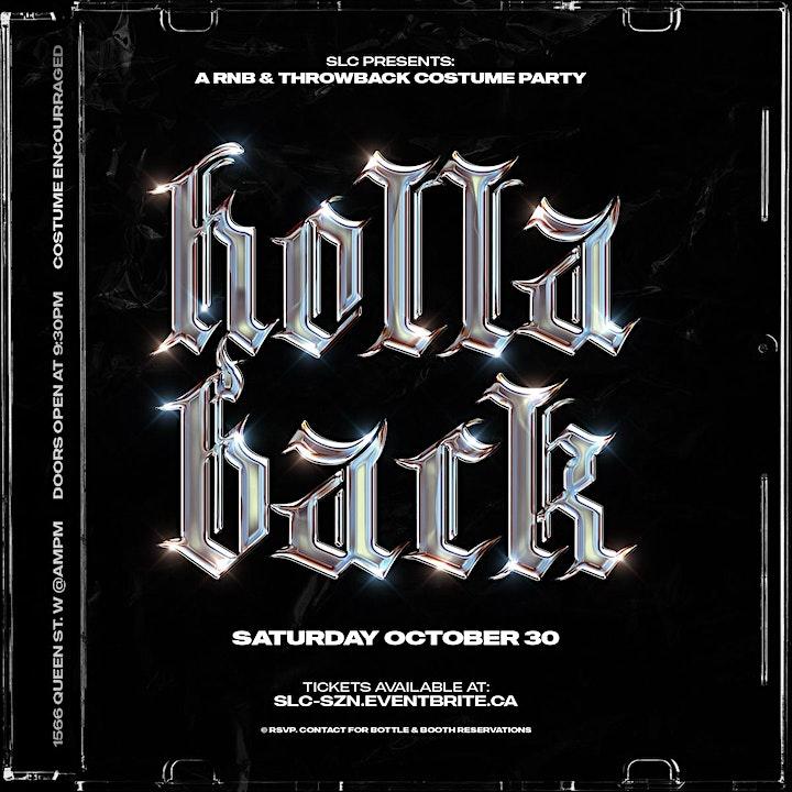SLC: Holla Back - RNB & Throwback Costume Party - Toronto (Oct 30 2021) image