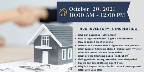LEARN HOW GET REGISTERED AND SELL HUD HOMES TO YOUR CLIENTS tickets