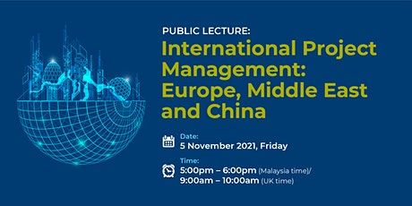 International Project Management: Europe, Middle East and China tickets