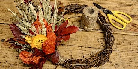 Autumnal Dried Floral Wreath Workshop tickets