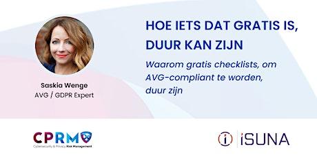 AVG / GDPR webinar tickets