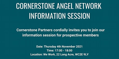 Cornerstone Angel Network - Information Session tickets