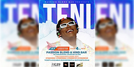 TENI LIVE IN LEICESTER tickets
