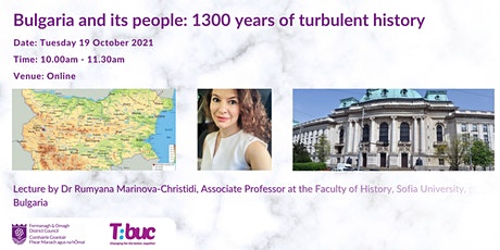 Bulgaria and its People: 1300 years of Turbulent History tickets