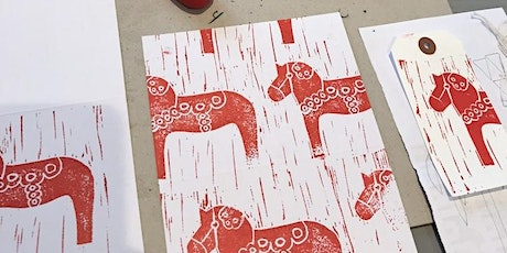 Lino printing for Christmas  - suitable for beginners tickets