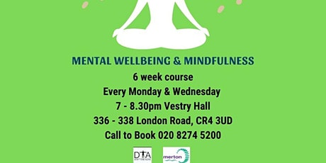 Mental wellbeing and mindfulness course tickets