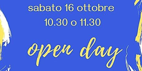 OPEN DAY 16 OTTOBRE 2021 - INFANZIA biglietti