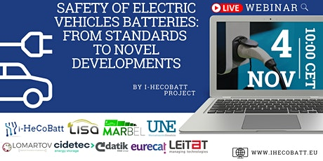 Webinar: Safety and Standards of the  Batteries in the Electric Vehicles tickets