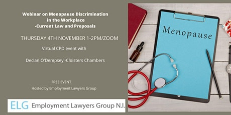 Menopause discrimination in the workplace tickets