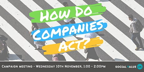 How Do Companies Act Stakeholder Meeting tickets